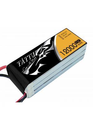 TATTU 12000mAh 22.2V 15c 6S1P Lipo Battery Pack with EC5 connector