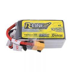 Tattu R-Line 1050mAh 95C 22.2V 6S1P Lipo Battery with XT60 Plug
