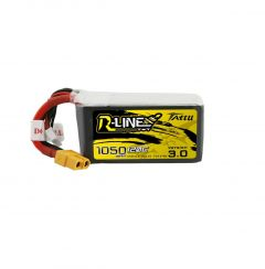 Tattu R-Line Version 3.0 1050mAh 22.2V 120C 6S1P Lipo Battery Pack with XT60 Plug