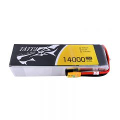 Tattu 6s 22.2V 14000 25C Lipo Battery Pack with XT90-S Plug