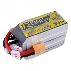Tattu R-Line 1800mAh 6S 22.2V 95C Lipo Battery with XT60 plug